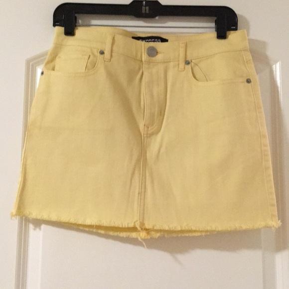 84c4c9a6ad Express Skirts | Light Yellow Mini Skirt | Poshmark